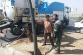معاون بهره برداری شرکت آبفا اهواز خبر داد: عملیات لایروبی حوضچه های فاضلاب کوی علوی