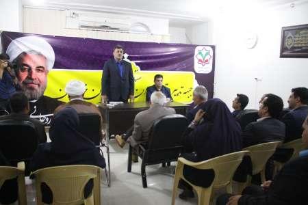 افتتاح ستاد مرکزی جبهه تدبیر و توسعه خوزستان +تصاویر+سخنرانی عده ای از فعالین سیاسی به نفع دکتر روحانی