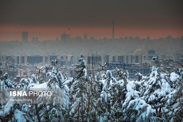 شدت وارونگی دما و انباشت آلایندهها پس از بارش برف بیشتر است