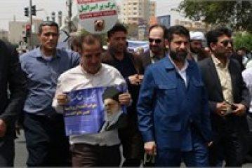 راهپیمایی روز قدس با حضور دکتر شریعتی