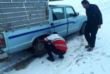 امدادرسانی به ۳۵ خودرو و ۱۰۴ فردِ گرفتار شده در کولاک اندیکا