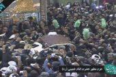وداع با یار دیرین امام و رهبری؛ پیکر مطهر آیت الله هاشمی رفسنجانی در کنار امام راحل آرام گرفت
