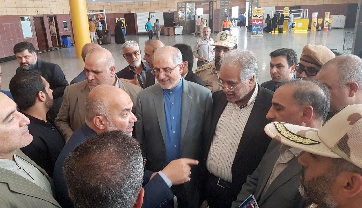 بازدید معاون اقتصادی وزارت امور خارجه از پایانه مرزی شلمچه